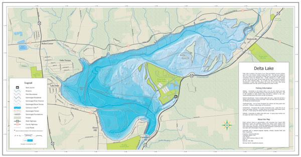 Delta Lake Fishing Map